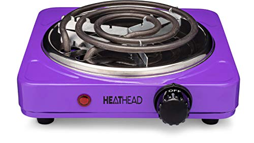 Electric Countertop Burner - Portable Electric Cooker - Mini Kitchen Stove - Charcoal Starter - Kitchen Camping and RV - Mini Stove - 1000 Watts