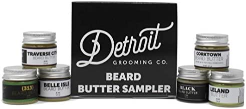 Detroit Grooming Co Beard Butter Sampler Includes 6 Different Scent All Natural Beard Butters product image