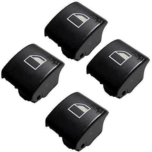 Twowinds - Reemplazo botones ventanilla derecha e izquierda serie 3 E46, X3, X7 (Cuatro piezas)
