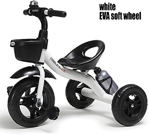 Kinder Dreirad Kinderfahrrad Kinderwagen Fahrrad Dreirad Handwagen Tretautos Kinderscooter 2-5 Jahre