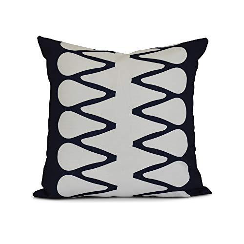 E by design Diamond Jive 1 Geometric Print Pillow 26 x 26 Navy Blue