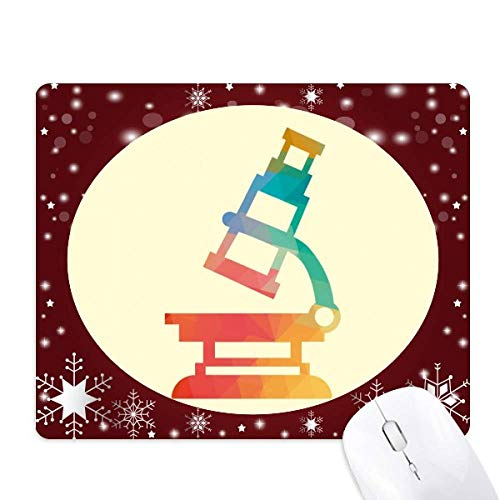 Cartoon Microscope Chemistry Pattern Mouse Pad Winter Snowflake Rubber