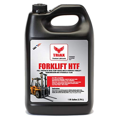 Triax Multipurpose Forklift Hydraulic & Transmission Oil - Hydrostatic Transmission & Hydraulic Oil - Fits 99% of All forklifts - Full Synthetic (1 Gallon (Pack of 1))