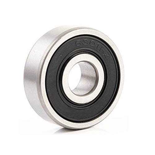FMTZZY Rodamiento de repuesto duradero firme seguro 4 unids 6301RZ rodamientos de bolas de ranura profunda Nivel de precisión 12x37x12mm Rodamiento Material de acero Rodamiento de bolas