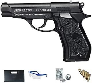 Gamo Red Alert Pistola Full Metal + maletín + Accesorios. Arma de balines (perdigones BB's de Acero Cal 4.5mm) y CO2 (Botella de Aire comprimido) SEMIAUTOMÁTICA <3,5J