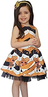 Toddler Girl L.O.L Surprise! Dress with Cartoon Print Lol Doll Queen Bee Dress Skirt Girls Toddler Deluxe Fancy Dress Cost...