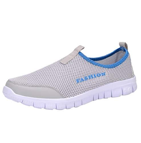 Herren Slip on Casual Schuhe Leichte Anti-rutsch Schuhe Atmungsaktiv Turnschuhe Sportschuhe Bequem Mesh Outdoor Fitnessschuhe Sneaker Wanderschuhe Größe 39-46 TWBB