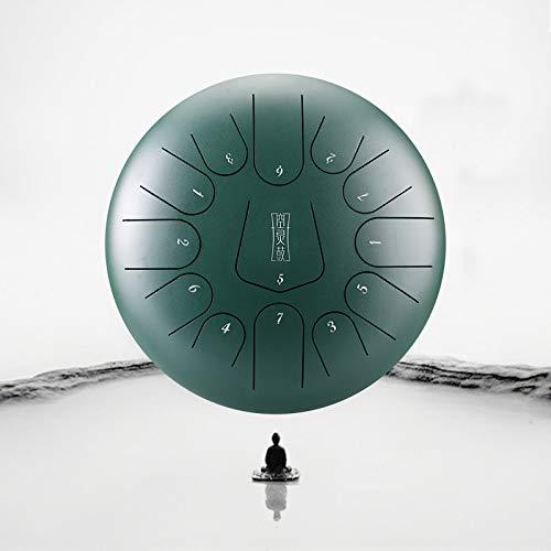 12 pulgadas 13tone Steel Tongue Pan Drum Handpan, con bolsa de transporte, Notas para meditación, Yoga Zazen Sound Healing,