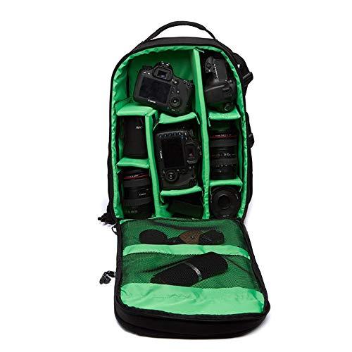 Custodie per Fotocamere Video Custodia imbottita Zaino - verde multifunzionale DSLR 15.6inch impermeabile Laptop Bag Camera Per la protezione telecamere ( Color : Green , Size : 27x18x4.2cm )