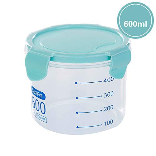 siyao graan opslag tank keuken accessoires artefact plastic verzegelde blikjes keuken opslag transparant voedsel bus houden verse pot 600ml Blue