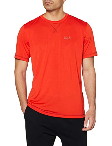 Jack Wolfskin Crosstrail T-Shirt Homme T-Shirt Homme Lava Red FR : XL (Taille Fabricant : XL)