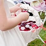 400pcs fake rose petals for wedding decorations, silk flower petals centerpiece table decorations, flower girl basket artificial flower petals for aisle runner bridal shower anniversary party decor