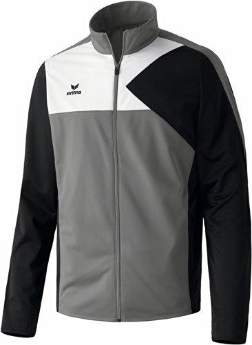 erima Kinder Anzug Premium One Jacke, Granit/Schwarz/Weiß, 164