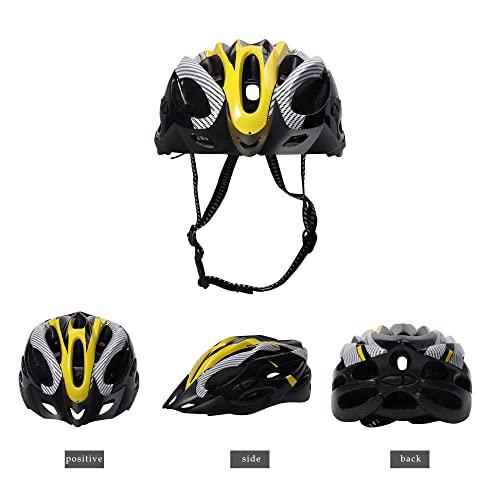 Fahrradhelm, Mountainbike Fahrradhelme Erwachsene Fahrradhelm Verstellbar Radhelm mit Abnehmbarem Visier MTB City Specialized Fahrradhelm EPS-Körper + PC-Schale Fahrradhelm für Männer Frauen (Gelb)