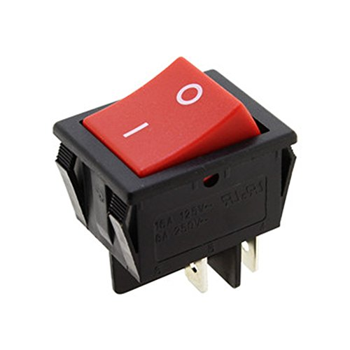 Electro dh 11.405.I/NR - Interruptor basculante bipolar empotrable, con tecla de color Rojo rotulada
