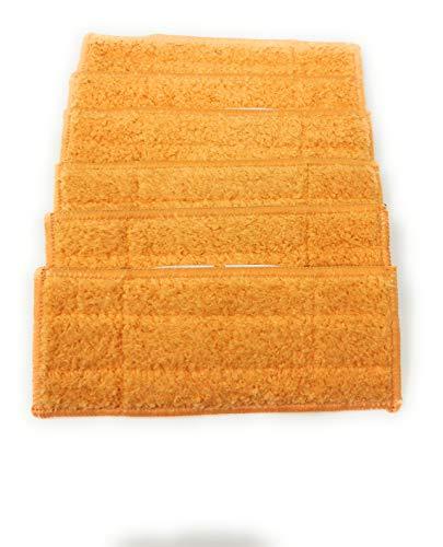 Lot de 6 lingettes lavables en microfibre pour nettoyage à sec, humide ou humide (au choix) Compatible avec Aspirateur Braava Jet 240, 250 Feucht , Damp