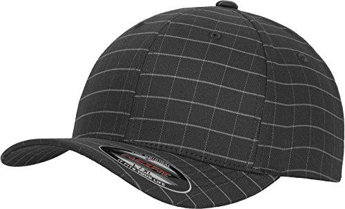 Flexfit Erwachsene Mütze Square Check Cap, Darkgrey/Grey, L/XL