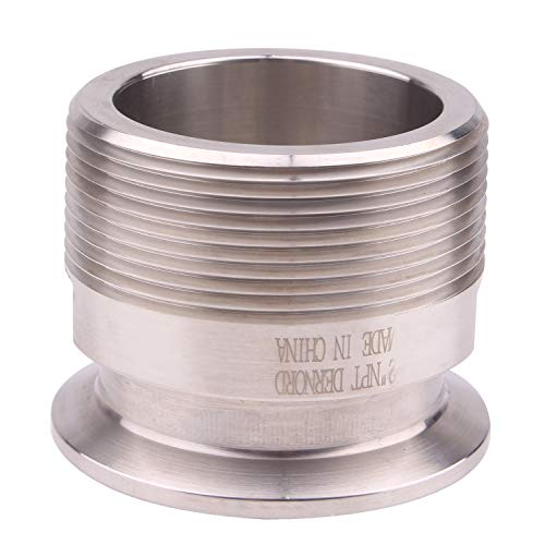 DERNORD 2'' Tri clamp Adapter to 2 inch MNPT Thread Ferrule Sanitary Pipe Fitting