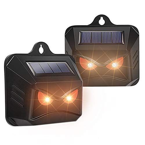 Thanos Solar Powered Nocturnal Animals Repeller with Red LED Lights Predator Deterrent Light Skunk Deer Raccoon Coyote Repellent for Yard Chicken Coop Farm Waterproof 2 Pack