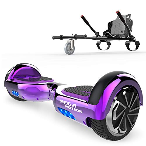 SOUTHERN-WOLF Self-Balancing Scooter, Hoverboard 6,5zoll Hover Scooter Board Bluetooth Scooter mit bunten Lichter Bluetooth eingebaute Geschenk für z29 (Purple)