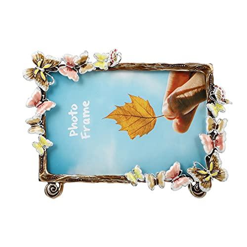 Amosfun Marco de muestra, marco de fotos con mariposas, embellecedor de foto, imagen de muestra, para flores secas