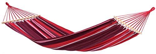 AMAZONAS Stabhängematte Samba Fuego wetterfest und UV-beständig 210cm x 140cm bis 150kg buntgestreift