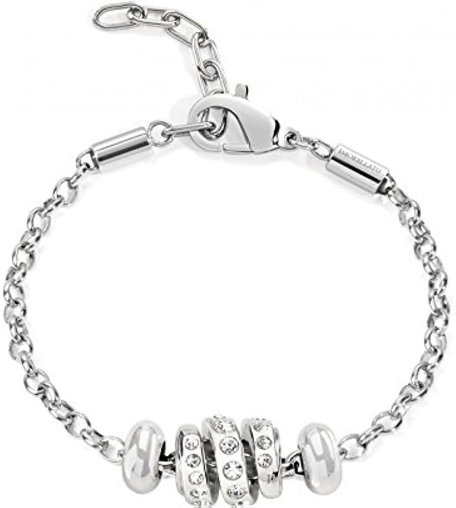 Morellato,bracciale da donna, acciaio inossidabile e cristalli SCZ229