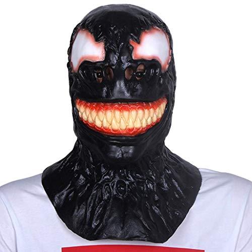 XINRUIBO El ltex de Halloween mscara de cumpleaos Tocado del Partido de la mscara del terrorista Adulto Veneno mscara de la mscara del Monstruo mscaras de Halloween