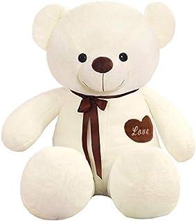 Happytoys 100cm Giant Teddy Bear Giant Plush Stuffed Toys Doll Lovers Valentines Birthday Gift ,white