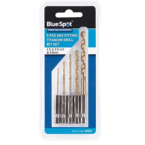 Blue Spot 20337 Hex Fitting Titanium Drill Bit Set