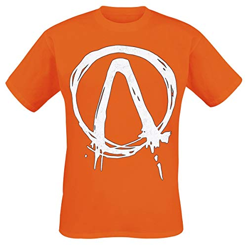 Borderlands Logo Männer T-Shirt orange L 100% Baumwolle Fan-Merch, Gaming