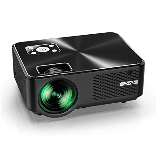 YABER Proiettore 5500 Lumen Mini Proiettore Portatile 1080P Supporto Nativa 1280*800 LED Videoproiettore 200' Display Cinema Domestico Iphone, Android, Laptop, PC, Con Tv/Av/Vga/Usb/Hdmi