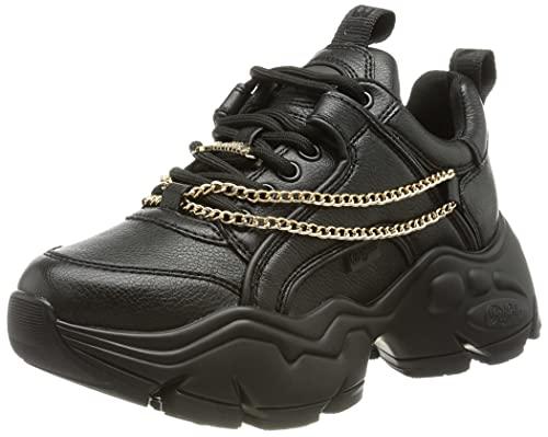 Buffalo Binary Cash, Zapatillas Mujer, Black Gold Chain, 37 EU