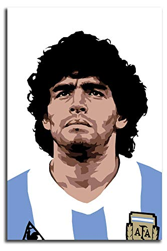 MRFSY Football Superstar Maradona Poster Wall Art Painting Pictures 3D Oil Painting on Canvas Hand Painted Abstract Wall Art 16'x24'