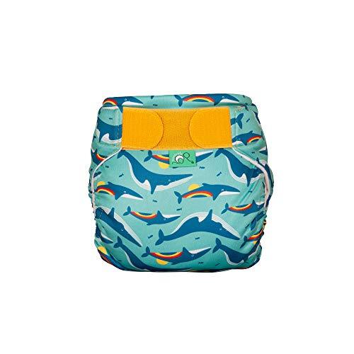 TOTSBOTS - Baby-Schwimmwindel – wiederverwendbare Schwimmwindeln, Größen für Neugeborene bis Kleinkinder, Schwimmbadsicher – Regenbogenwal (Größe 1, 4,5–9 kg)