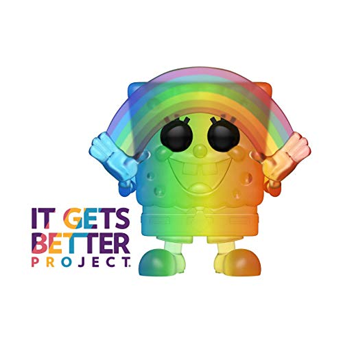 Funko 49842 POP Animation 2020-Spongebob Pride 2020 Spongebob(RNBW) Sammelbares Spielzeug, Mehrfarben