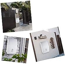 ZZYE Outdoor postbox, grote capaciteit vergrendeling post en roestbewijs vakantie mailbox, voor muren/poorten/garages/post...
