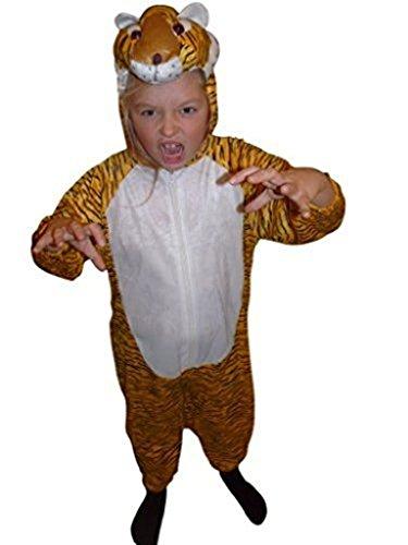 Ikumaal Tiger-Kostüm, AN28, Gr. 128, für Kinder, Tiger-Kostüme für Fasching Karneval Fasnacht, Kleinkinder-Karnevalskostüme, Kinder-Faschingskostüme,Geburtstags-Geschenk Weihnachts-Geschenk