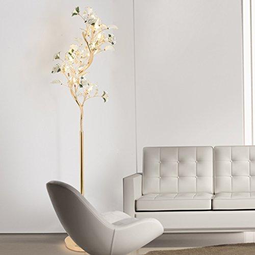 MILUCE Salon de la Lampe de Plancher Continental LED Salon de la Chambre postmoderne Simple Étude de Lampes Verticales créatives en céramique en céramique (Couleur : Blanc)