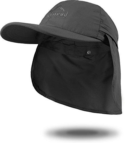 normani Sommer Cap 'Savannah' mit einrollbarem Nackenschutz Farbe Anthrazit Größe M
