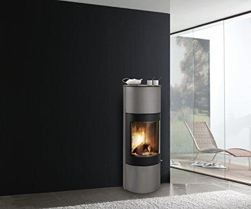 Estufa de leña Caminos Windsor gris/negro 3-7 kW