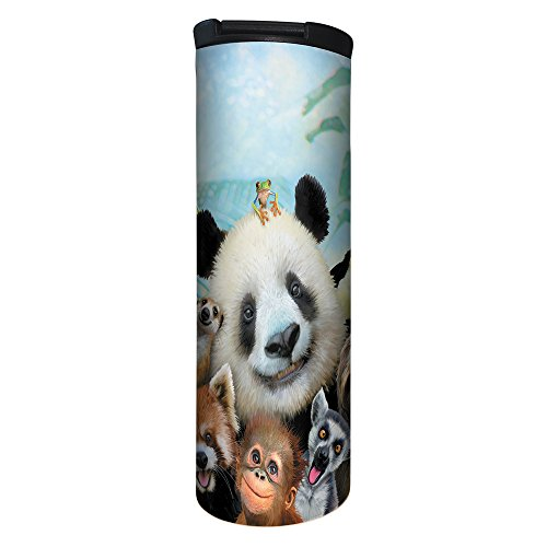 Tree-Free Greetings Barista - Vaso con aislamiento al aspiradora, Selfi del zoo, Zoo Selfie, 502 ml, 1