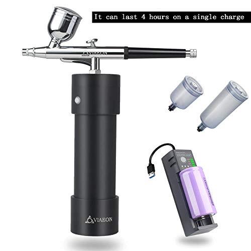 Set aerografo con compressore per modello/trucco/nail design/tatuaggio/artwork/scarpe/USB portatile portatile pistola a spruzzo