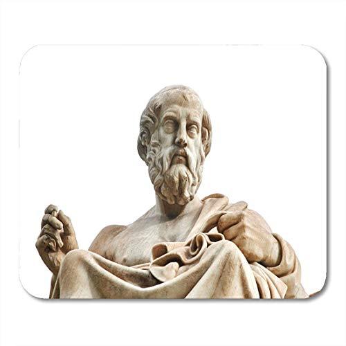 Mauspads blaue philosophie statue des antiken griechischen philosophen platon mauspad für notizbücher, Desktop-computer matten büromaterial