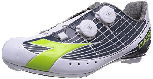 Diadora VORTEX-PRO MOVISTAR - Zapatillas de ciclismo de material sintético para mujer, Multicolore (Mehrfarbig (blau/weiß 5272)), 43