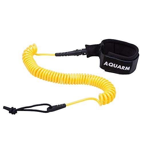 AQUARM SUP Leash 11 Foot Coiled Stand Up Paddle Board Leash Stay on Board Ankle Strap
