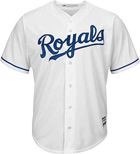 Outerstuff MLB Youth 8-20 Blank Cool Base Home Color Team Jersey (Medium 10/12, Kansas City Royals Home White)