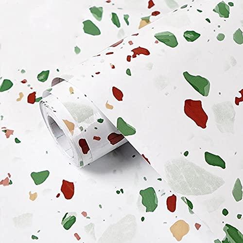 Autoadhesivo ExtraíBle para Pelar y Pegar, Cocina Gruesa Pegatina de Aceite Auto-Mejora Estufa de Azulejos Cirugía plástica Pegatinas de Pared Mármol Agua Molder Fondos de Pantalla-Rojo 1_60cm × 6m
