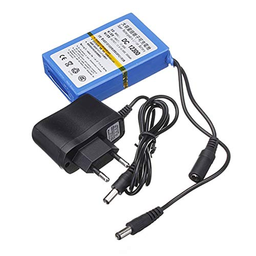KoelrMsd Batería de Monitor Batería de Almacenamiento de Iones de Litio Recargable de Gran Capacidad Lámpara LED Energía de Respaldo Fuente eléctrica en Espera 12V 3000mAh