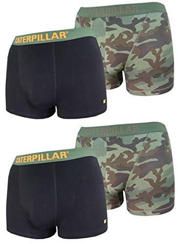 Caterpillar CAT 4 Stück Boxershorts, TOP Farbauswahl in Camouflage, Fluo-Neon-Design, Classic verfügbar in M/L/XL/XXL (XL/7/52, Farbmix 1)